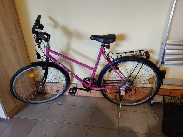 Rower damski damka różowy