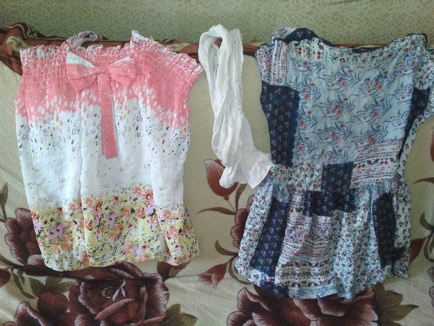 Летний сарафан и платье 5-6лет