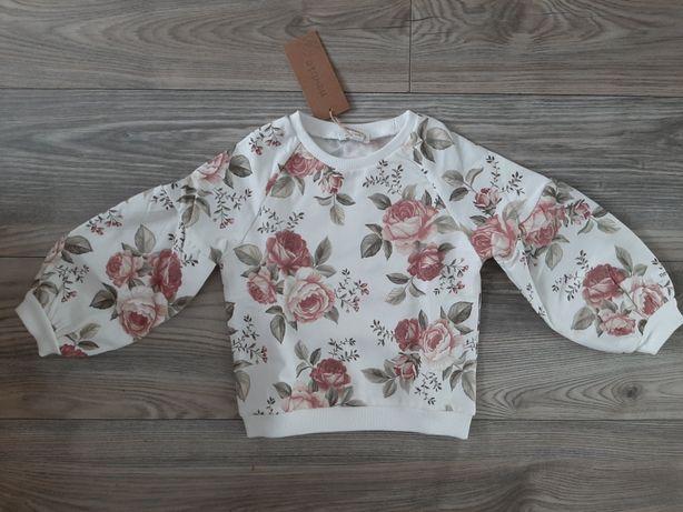 Newbie kappahl bluza w róże r.92cm nowa kolekcja