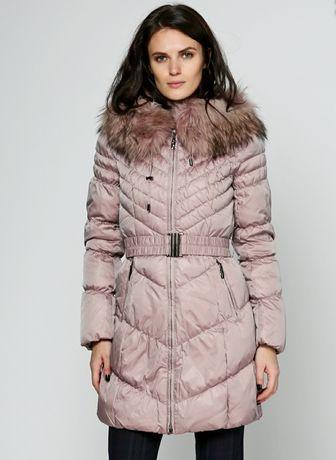 Бледно-розовый зимний Пуховик с капюшоном НОВЫЙ
