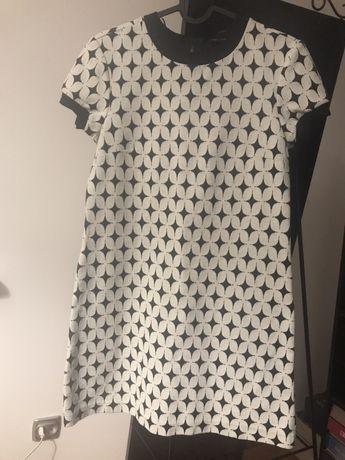 Zara Woman sukienka żakardowa w geometryczny wzór r. S