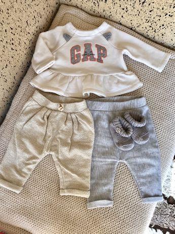 Детские Штанишки, кофта пинетки gap 68, 1-3, 3-6 месяцев