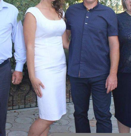 Белое платье 46-48р