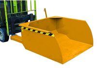Pá basculante para garfos de empilhador carga e descarga 750 lts