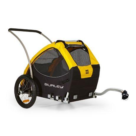 Przyczepka rowerowa Dla Psów Burley Tail Wagon Żółta