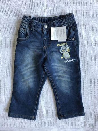 NOWE spodnie spodenki jeansy niemowlęce r. 74 wyprawka dla niemowlaka