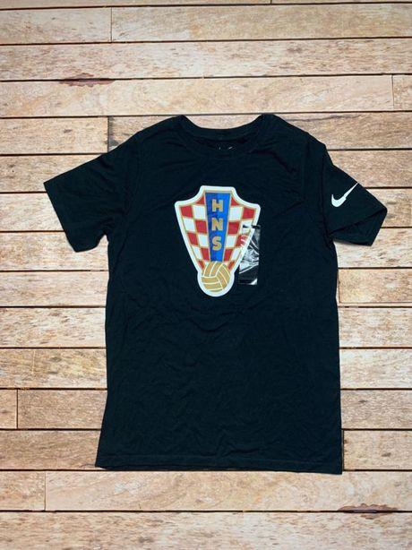Koszulka Sportowa Męska Chorwacja czarna big logo