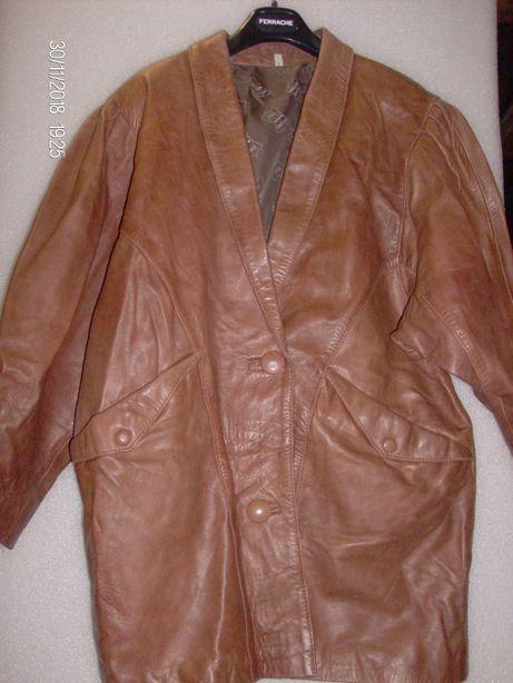 casaco de senhora em pele castanho XXL