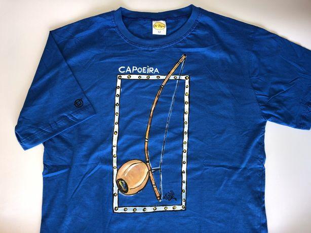 Koszulka Berimbau Capoeira z Brazylii. Ręcznie malowane. T-shirt