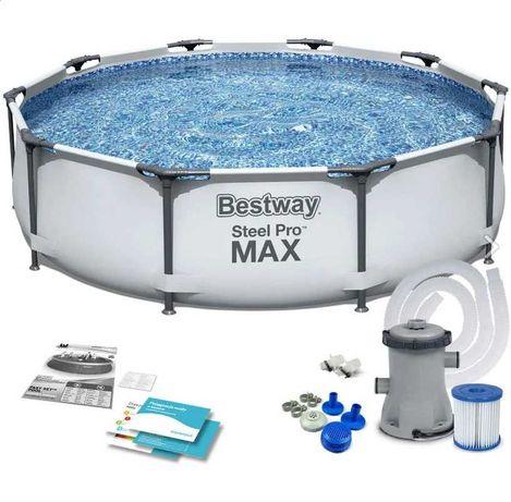 Бассейн каркасный Bestway Steel Pro MAX  305*76 +фильтр+насос.Новый