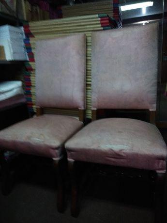 6 Cadeiras em madeira maciça
