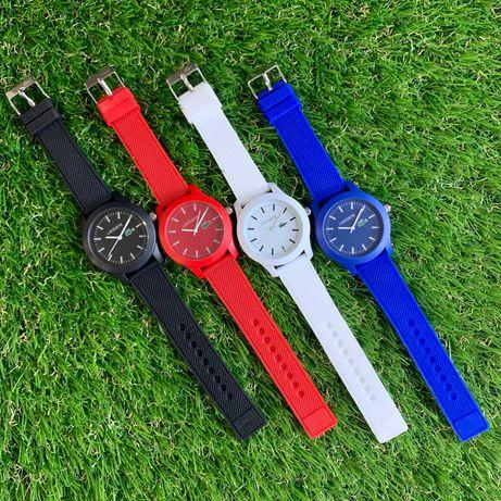 Каучуковые женские часы в стиле Lacoste Лакосте годинник жіночий