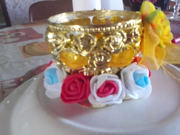 Taça decorada para casa