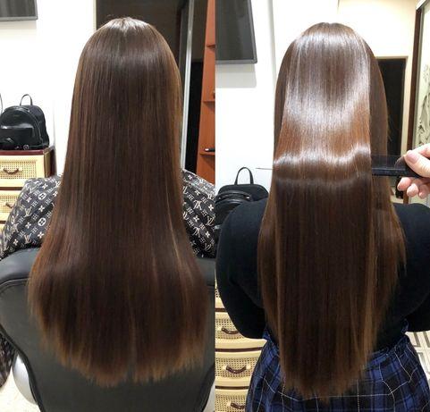 Кератиновое выпрямление волос, Ботокс. Наращивание, коррекция, снятие.