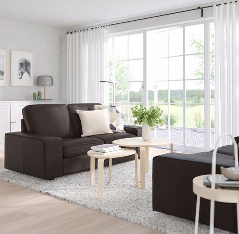 KIVIK skórzana 2 osobowa sofa, czarnybrąz Grann Bomstad 902.006.41