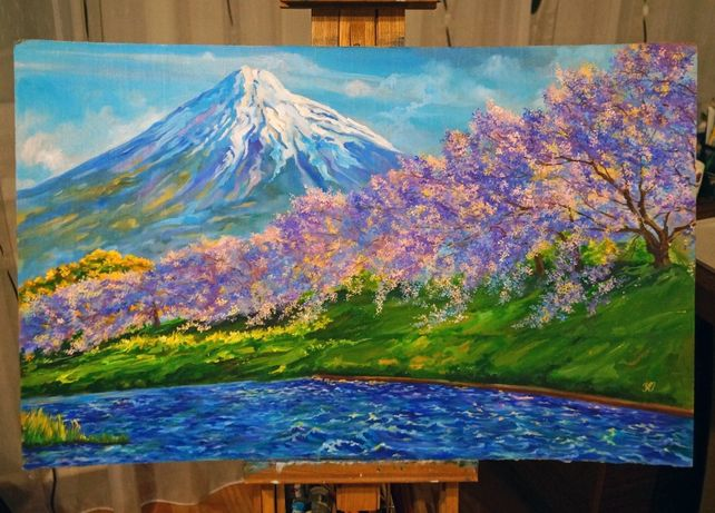 """Картина маслом """"Сакура"""""""