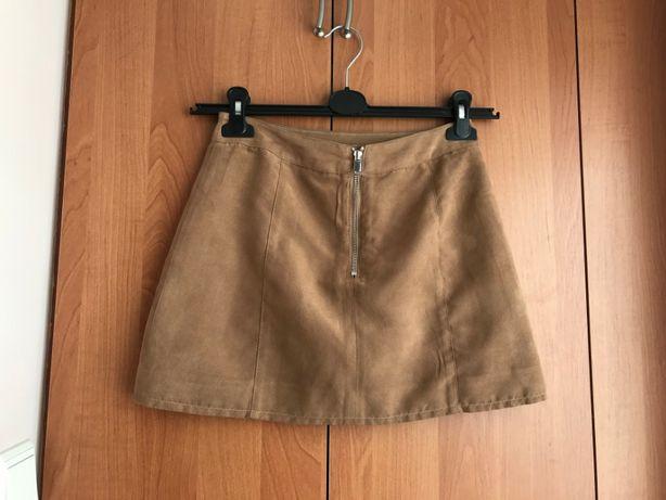 Spódnica trapezowa beżowa H&M 34 XS
