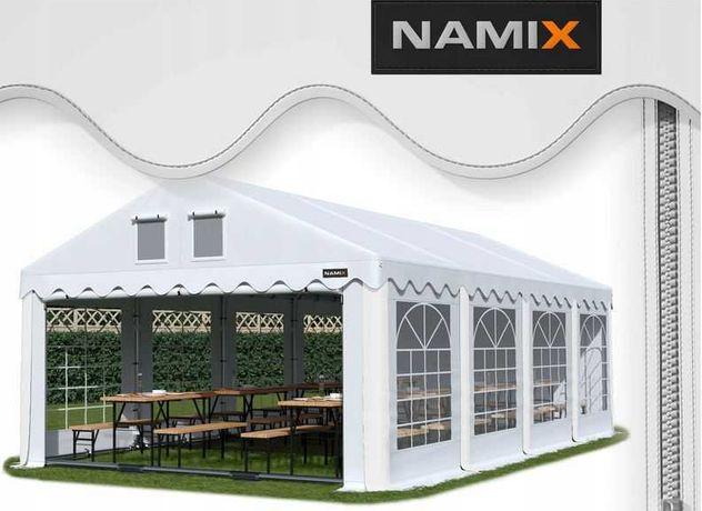 Namiot GRAND 8x8 ogrodowy imprezowy garaż wzmocniony PVC 560g/m2