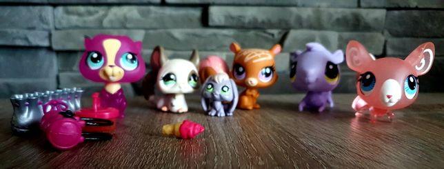 Littlest Pet Shop LPS Figurki gryzoni szynszyla wiewiórka + akcesoria