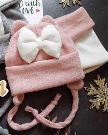 Зимняя набор для девочки,шапка ,хомут
