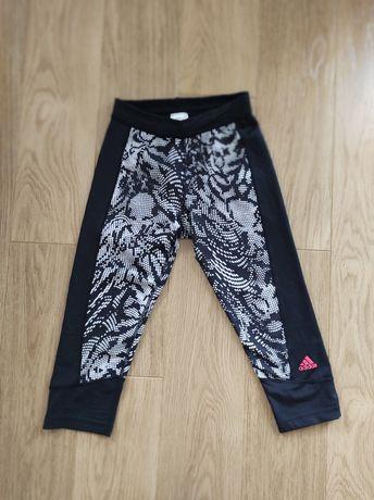 Leginsy Adidas 3/4 fitness siłownia bieganie