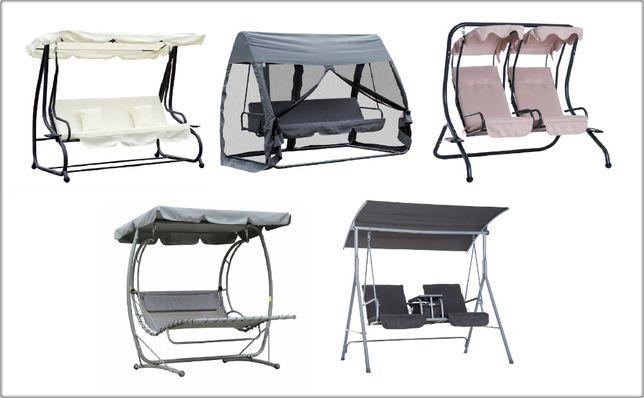 Huśtawka ogrodowa funkcja leżenia ogród l łóżka bujane podstawki