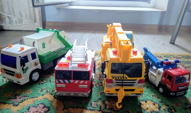 Звуковые машинки: кран строительный, эвакуатор, пожарная и мусоровоз