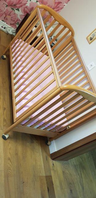 Drewniane Łóżeczko włoskiej firmyPali +materacGRATIS +2xorganiz GRATIS