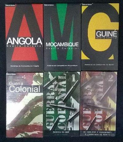 Colecção sobre a Guerra Colonial em VHS + colecção de fascículos