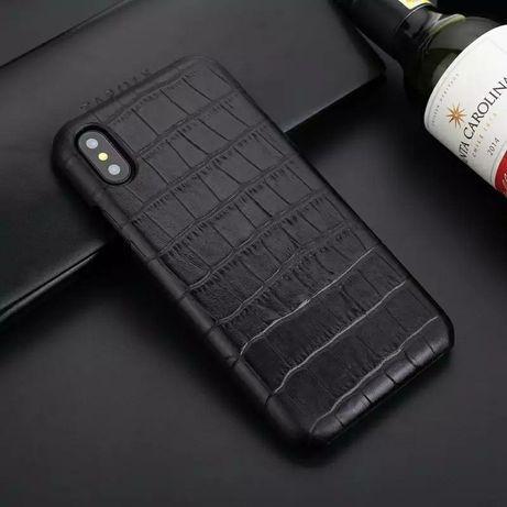 Кожаный чехол крокодил iPhone 7/8/Plus/X/XS/XR/11/Pro/Max Leather case