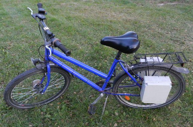 Rower z napędem elektrycznym 24V 250W, bez akumulatorów, sprawny