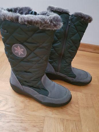 Buty zimowe ocieplane - śniegowce r37 jak nowe