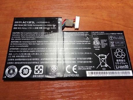 Аккумулятор батарея AC13F3L Acer A1-810/811