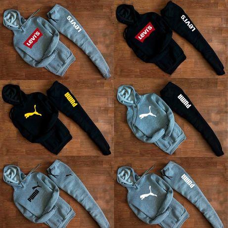 Зимний спортивный костюм Puma, Nike, Venum, Jordan, Adidas худи штаны