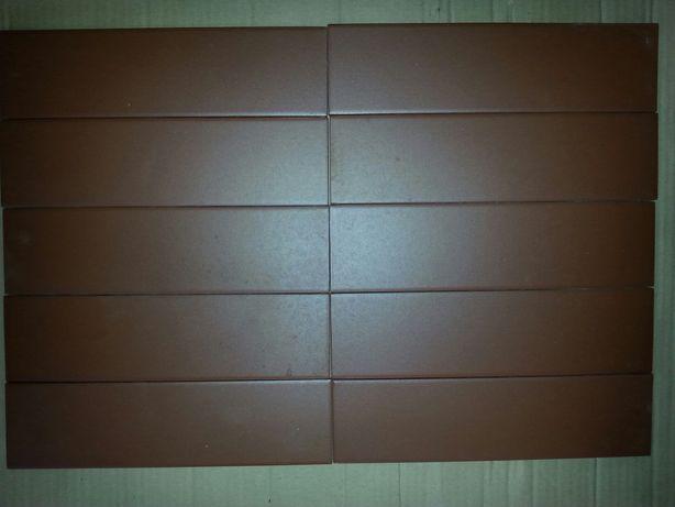 Płytka elewacyjna gładka klinkier burgund Cerrad 245x65x6,5 114 szt