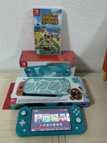 Nintendo Switch Lite + Jogo + Capa