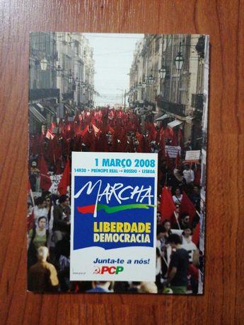 Postais - Marcha Liberdade E Democracia - edição DEP/PCP 2008