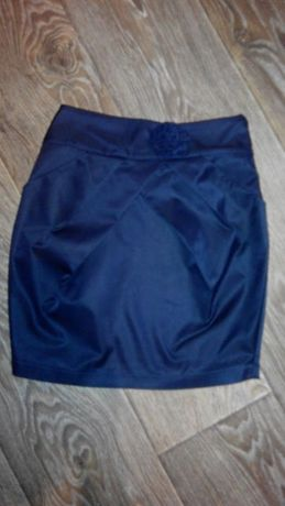 Юбка школьная темно-синяя рост 152