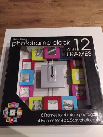 Zegar z ramkami na zdjęcia NOWY!!