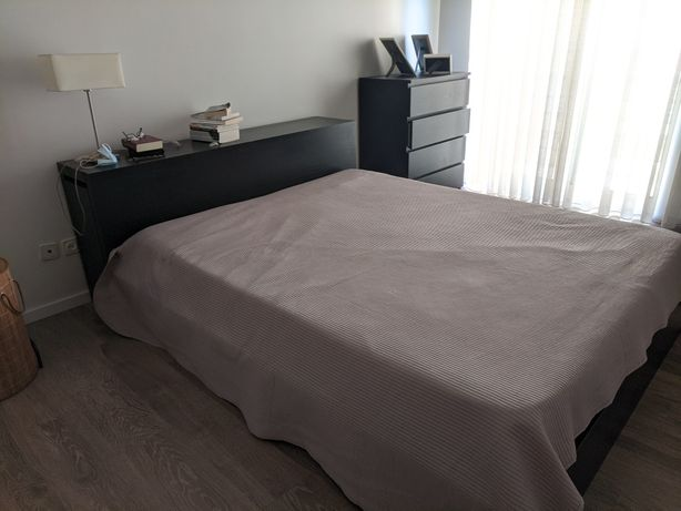 Cama casal + cómoda 4 gavetas