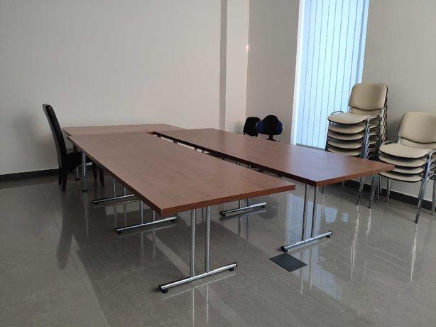 Biurko konferencyjne 90x270 cm i krzesła jak nowe