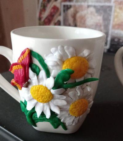 Чашки с полимерной глины