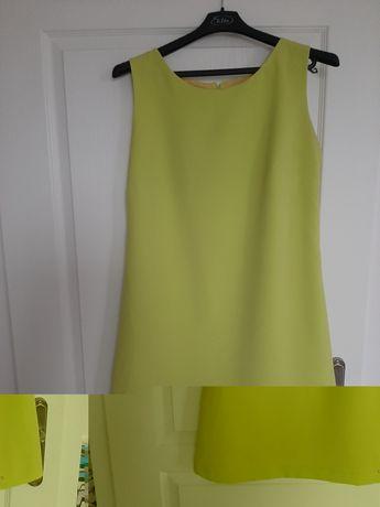 Limonkowa prota sukienka rozm 42