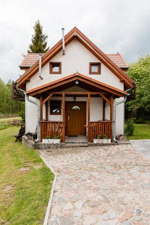 Domek z kominkiem nad jeziorem / okolice Mikołajki