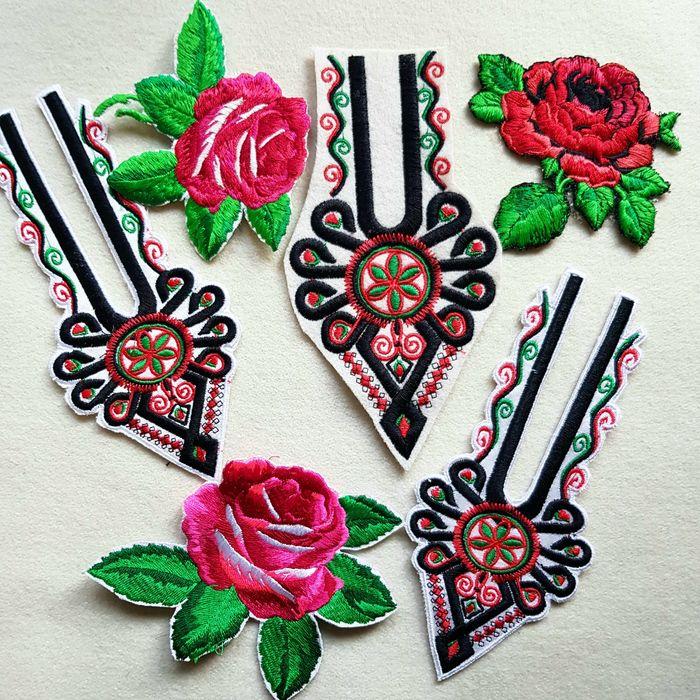 Naszywka góralska - parzenica, róża - naprasowanka haft komputerowy Szaflary - image 1