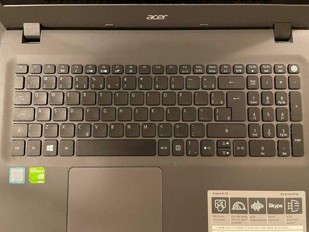 Notebook Acer Aspire E15 6 geração 1000GB HDD - Usado como Novo
