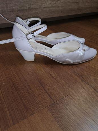 Skórzane buty ślubne 25. 5cm