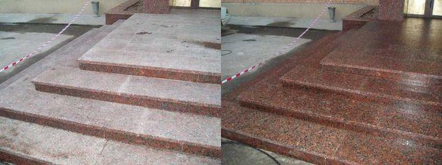Чистка гранита, гранитной плитки, гранитных ступеней, фонтанов