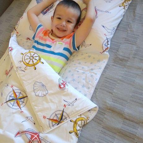 Детское постельное белье 3в1.Слипик. Спальный мешок.