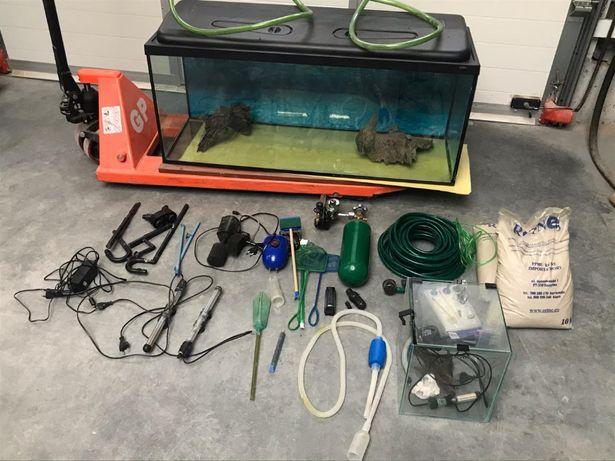 Akwarium 250l z pełnym wyposażeniem